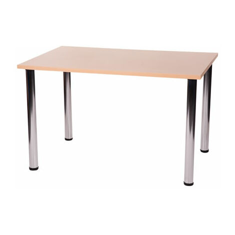 Fabian Large Or Small Rectangular Kitchen Dining Table has 4 Chrome Legs Dining Table