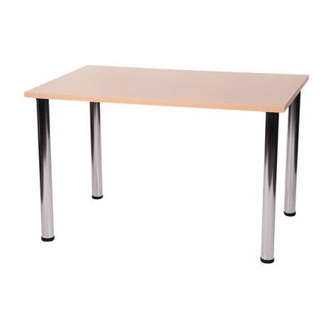 Fabian Large Or Small Rectangular Table has 4 Chrome Legs Table