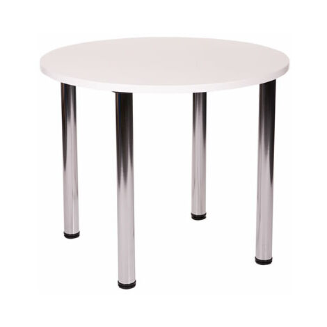 Fabian Round Small Or Large Kitchen Dining Table With 4 Chrome Legs