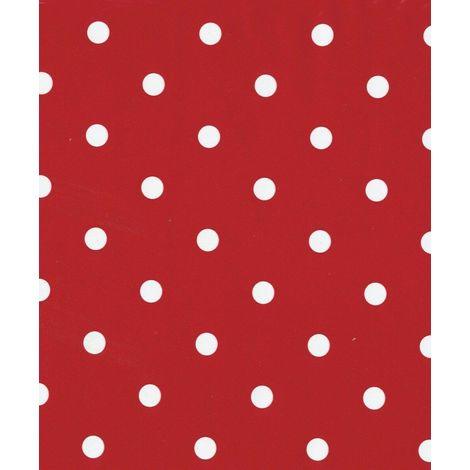 Fablon Polka Dot Red Self Adhesive Film