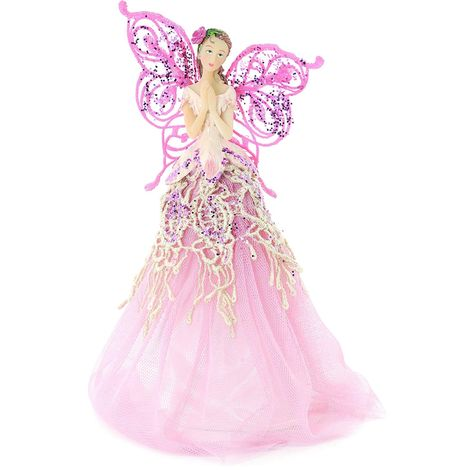 Angel Christmas Tree Topper.Fabric Angel Christmas Tree Topper 23 Cm White Pink Lilac Or Gold
