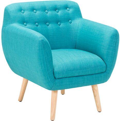 Fabric Armchair Blue MELBY