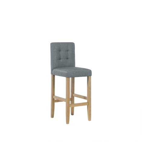 Fabric Bar Chair Grey MADISON