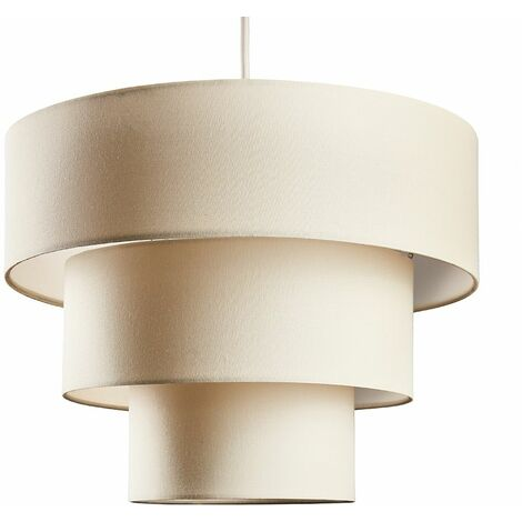 Fabric Ceiling Pendant Lampshade Easy Fit 3 Tier Light Shades