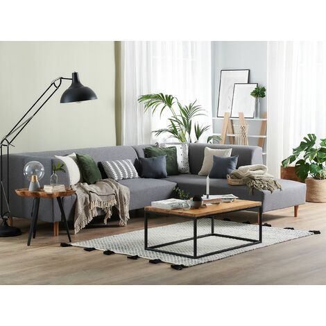 Fabric Corner Sofa Grey LUTVANN