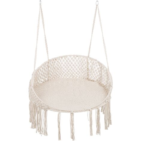 Fabric Hanging Chair Cream BUNYAN