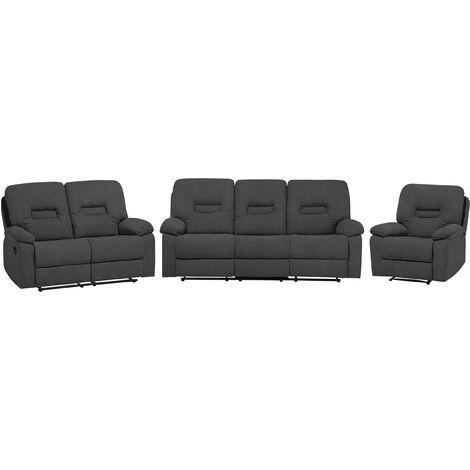 Fabric Living Room Set Grey BERGEN