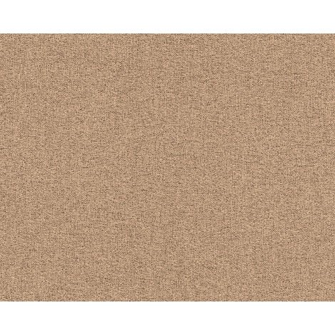 Fabric look wallpaper wall EDEM 9163-04 hot embossed non-woven wallpaper embossed with tangible texture shimmering brown 10.65 m2 (114 ft2)