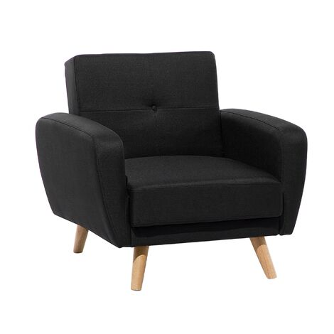 Fabric Recliner Armchair Black FLORLI