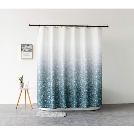 """main image of """"Fabric shower curtain with 12 C-rings - Mold resistant - Washable - With 12 C-rings 150 x 180 cm (W x H)"""""""