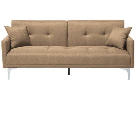 Fabric Sofa Bed Beige LUCAN