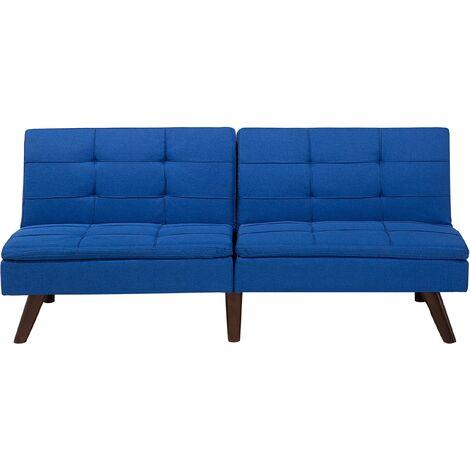 Fabric Sofa Bed Cobalt Blue RONNE