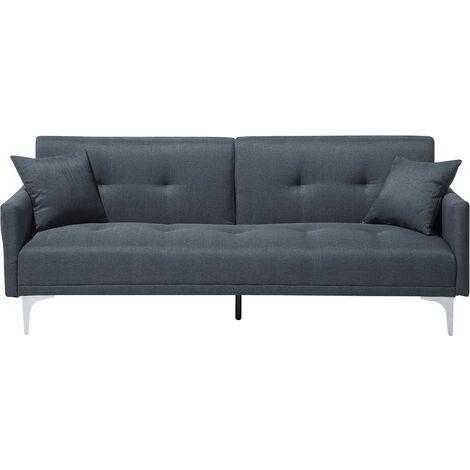 Fabric Sofa Bed Dark Blue LUCAN