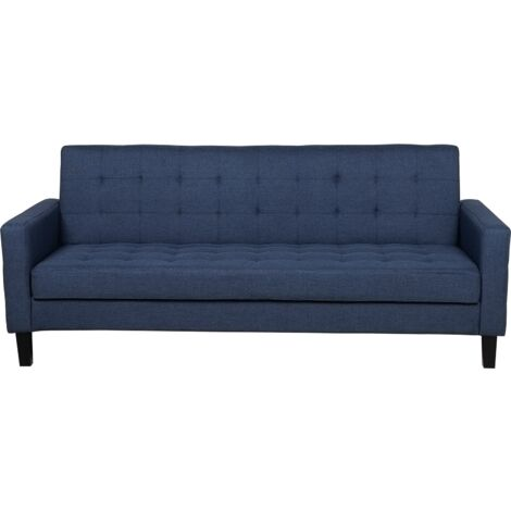 Fabric Sofa Bed Dark Blue VEHKOO