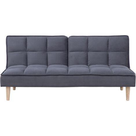 Fabric Sofa Bed Dark Grey SILJAN