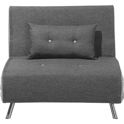 Fabric Sofa Bed Grey FARRIS