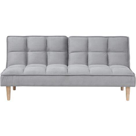 Fabric Sofa Bed Light Grey SILJAN