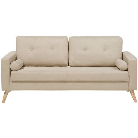 Fabric Sofa Beige KALMAR