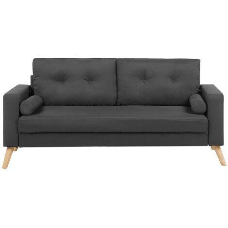 Fabric Sofa Dark Grey KALMAR