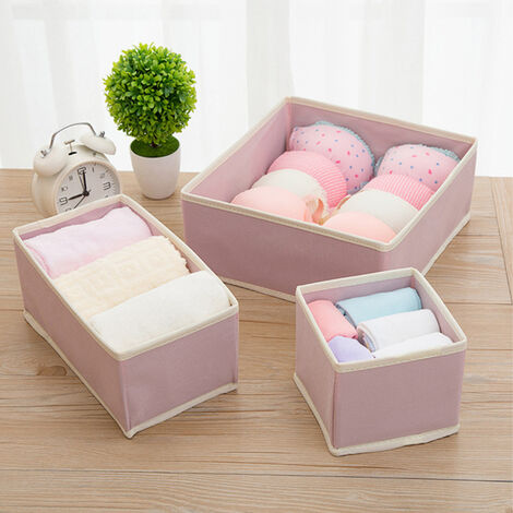 Fabric Storage Dividers Cupboard Drawer for Clothes Socks Toys Underwear Scarves
