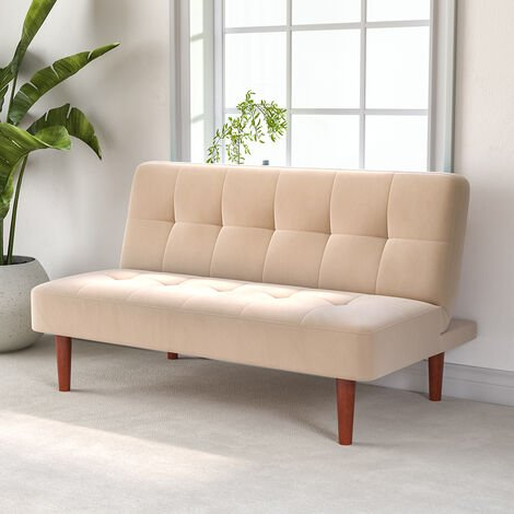 Fabric Upholstered 2 Seater Sofa Bed