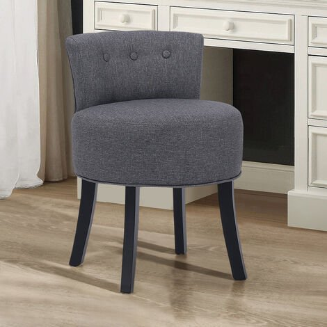 Fabric Vanity Stool Upholstered Chair Dressing Table Bedroom Seat