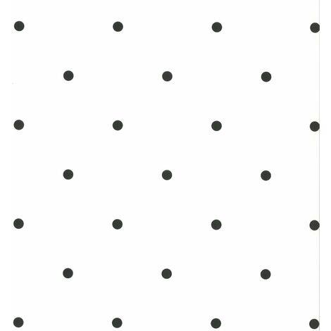 Fabulous World Tapete Dots Weiß und Schwarz 67105-3