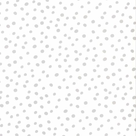 Fabulous World Wallpaper Dots White and Grey 67106-1