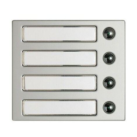 """main image of """"Façade 4 boutons Modulaire Aluminium"""""""