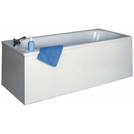 Facade de baignoire NEOVA largeur 140 min 16 mm hydrofuge melamine blanc. 4 chants minces. hauteur 535+verins reglables