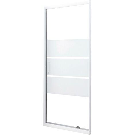 Façade MISSI - Façade pivotante 70x185x0,4cm - Verre trempé - Finitions blanc