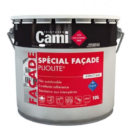 FACADE PLIOLITE BLANC PUR 10L - Peinture spéciale pour façade à rénover - CAMI