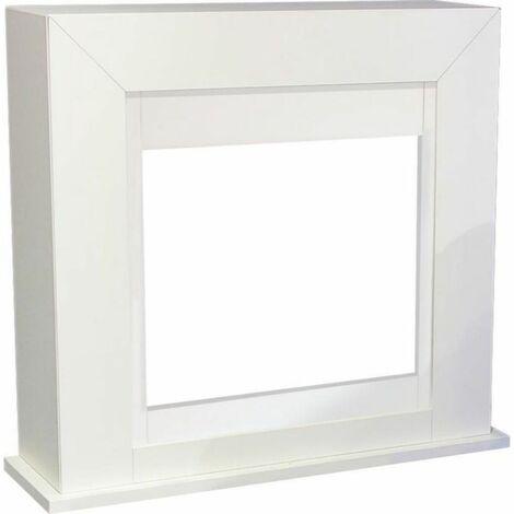 Facade pour Cheminee Adra en MDF Blanc cm 98x91x30,6 XARALYN Adra