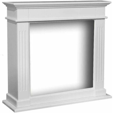 Facade pour Cheminee Elda en MDF Blanc cm 98x93,8x34 XARALYN Elda