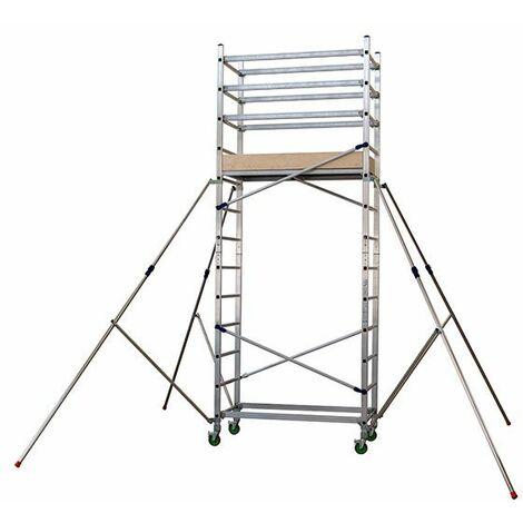 Facal - Échafaudage roulant professionnel Haut. de travail 4.8 m - ALTO 410
