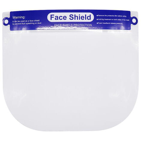 Face Shield Transparent Dustproof Fluid-Resistant Full Protective Protective Shield Safety Visor