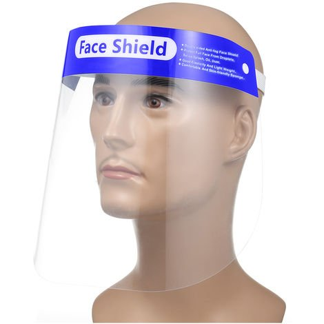 Face Shield Transparent Dustproof Fluid-Resistant Full Protective Protective Shield Safety Visor