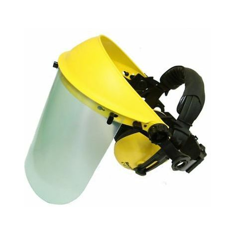 Face Shield With Ear Muffs And Clear Visor Ideal For Brushcutter Users