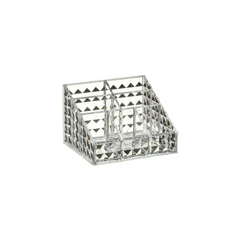 Image of Cosmetic Vanity Organiser 7 Section Storage Solution - Faceted