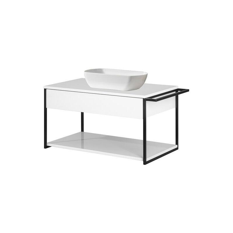 NEW YORK Badmöbel Set 2-teilig, 88 cm breit, Weiß, Keramik-'06309145' - Fackelmann
