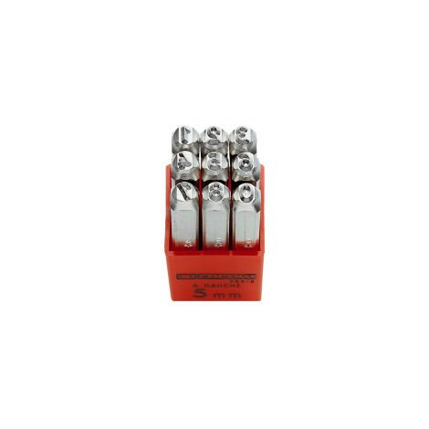 Facom 293A.3 3Mm Set Of 9 Number Punches