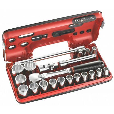 Facom Coffret clé + douilles métrique 1/2 (12.5 mm) 21 pièces SL.DBOX112