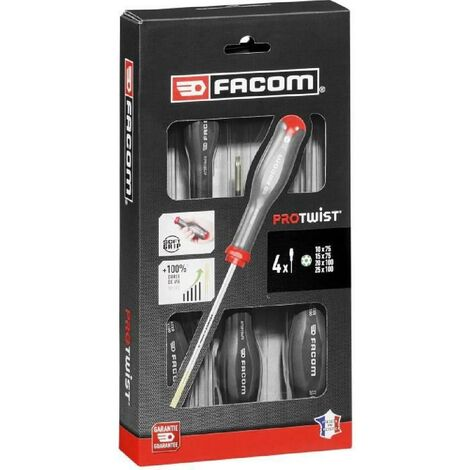 FACOM COFFRET DE 4 TOURNEVIS PROTWIST RESISTORX/ATXR