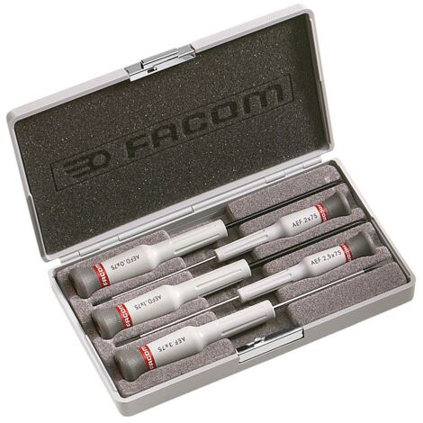 FACOM - Coffret de 5 tournevis Micro-Tech Fente - Pozidriv AEF.J5