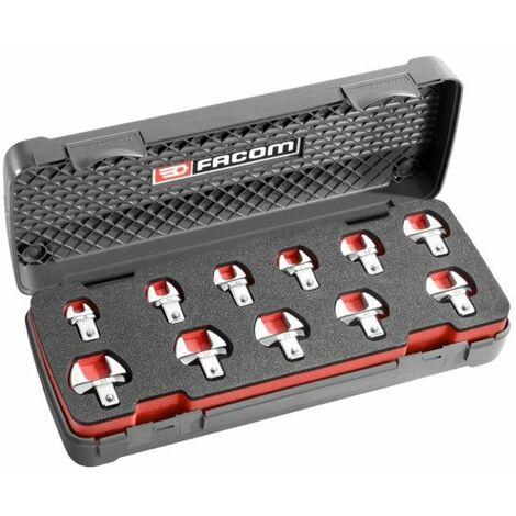 Facom Coffret d'embouts 9x12 mm fourche métriques - 10.J11