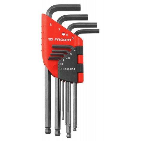 Facom Jeu de 9 clés mâles 6 pans 1.5 à 8mm