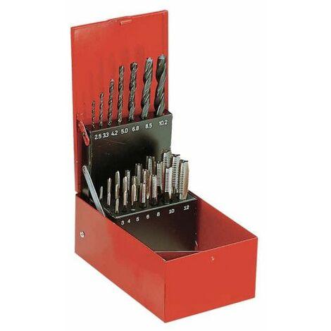FACOM Juego de machos y brocas de cobalto - M3-M12 - 28 piezas - 227.SJ2A