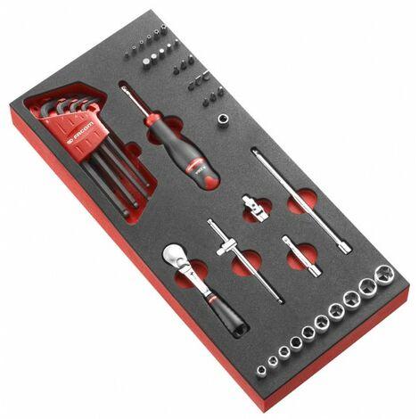 """Facom Module mousse douilles 1/4"""" 6 pans métriques - 46 pièces - MODM.RL161-36"""