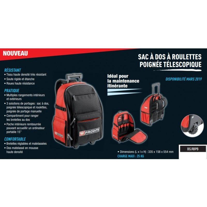 Boîte Sac Caisse à Outil Professionnelle FACOM Rangement Compact et Résistant FR
