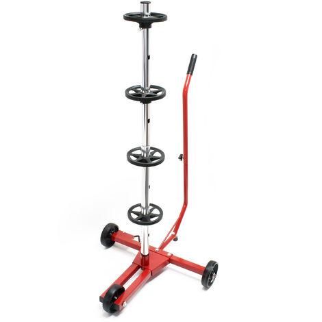 Fahrbarer Reifenständer / Felgenbaum für PKW Reifen bis 225 mm